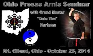 Ohio Presas Arnis Seminar @ Wolfpak Martial Arts | Mount Gilead | Ohio | United States
