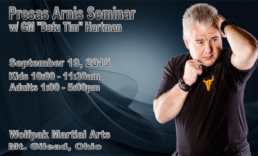 "Presas Arnis Seminar w/ GM ""Datu Tim"" Hartman @ Wolfpak Martial Arts  | Mount Gilead | Ohio | United States"