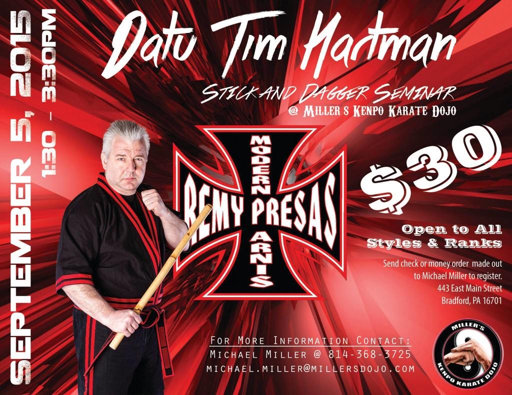 Datu Hartman - Stick & Dagger seminar @ Miller's Kenpo Karate Dojo | Bradford | Pennsylvania | United States