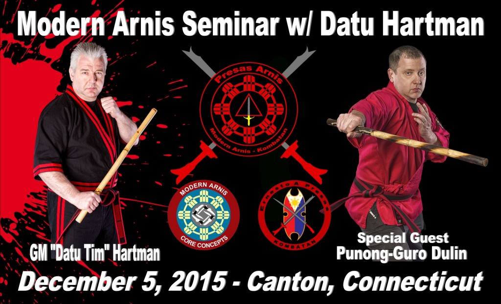 Modern Arnis seminar with Datu Hartman @ Avon Kempo and Aikido Academy | Canton | Connecticut | United States