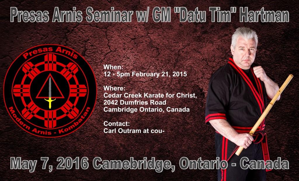 Presas Arnis seminar w/ Datu Hartman @ Cedar Creek Community Church  | Cambridge | Ontario | Canada