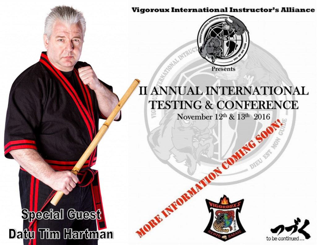 Datu Hartman to teach at the Vigoroux International Conference @ Vigoroux's Kenpo Karate Studios | Hasbrouck Heights | New Jersey | United States
