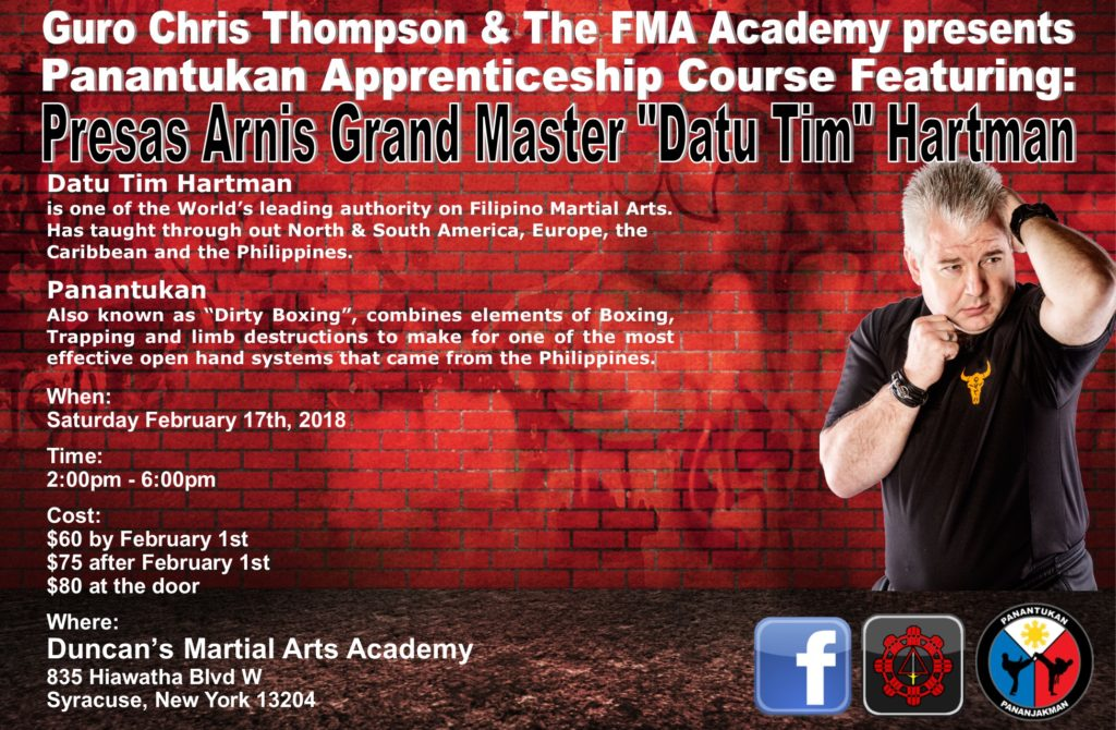 Panantukan Apprenticeship Course @ Duncan's Martial Arts Academy  | Syracuse | New York | United States