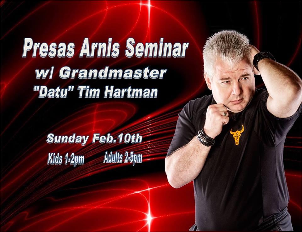 """Kids & Adult Presas Arnis Seminar w/ Grandmaster """"Datu"""" Tim Hartman @ Wolfpak Martial Arts"""